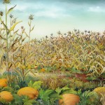87. Buće kuruznuca, ulje-staklo, 40x50, 2000.