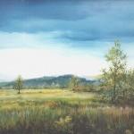 9. Livade, ulje-staklo, 25x30, 1993.