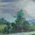 9. Proljetne kiše, ulje-lesonit 28x54 1975.