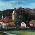 9. Tuhelj, ulje-lesonit, 35x55 1976.