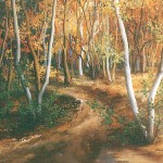 93. Jesen u šumi, ulje-staklo, 40x50, 2000.