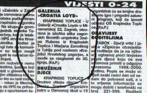 Croatia Lloyd - oglas