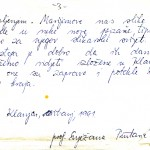 Dio izvornog rukopisa - predgovor katalogu - Prof.Snježene Pintarić