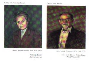 Dr.antun Bauer i Dr Antonija Bauer - portreti