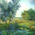 Lipanj, ulje - staklo, 40x50, 2005.
