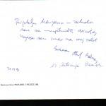 Potpisi na katalogu dr.Antun Bauer i dr. Antinija Bauer