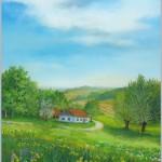 Vogarje u proljeće, ulje -   staklo, 40x30, 2005.