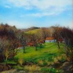 Zaselak u ožujku, ulje - staklo, 40x35,2005.