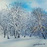 Zima 1, ulje - staklo, 15x15 -  2007.