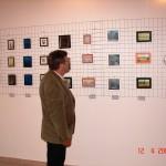 Marijan Zanoški na izložbi minijatura u galeriji Pihaći